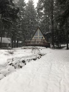 Photo for Cozy A-Frame Cabin in the woods