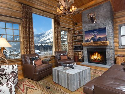 Photo for Spectacular View Luxury Log Home Adjacent to Lifts, Village, & Four Seasons