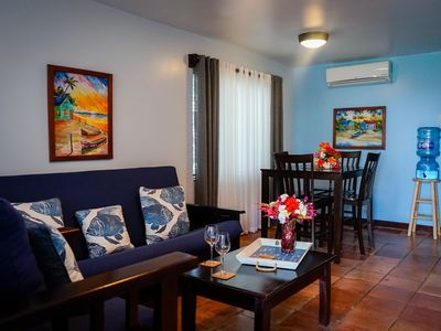 Photo for Ground floor Ocean View Apartment, shared pool, close to town - 7A