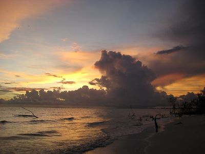 Sunset from our beach.
