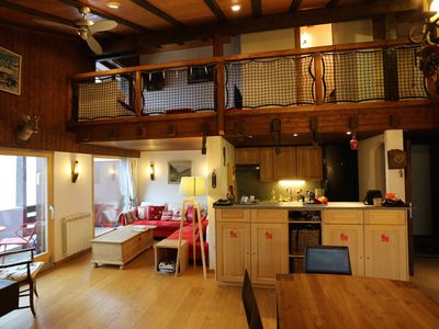 Photo for Large penthouse in a small chalet-type building of 4 stories in Haute-Nendaz