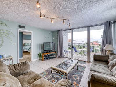 Photo for Beachside, water view condo, w/ shared tennis, dock, & pool - snowbirds welcome!