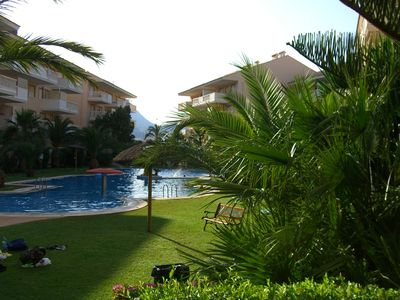 Photo for Ground floor with garden, next to the beach, in beautiful urbanization. IDEAL FAMILIES
