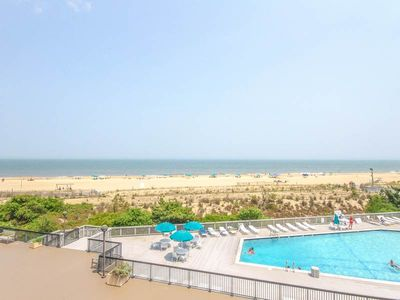 Photo for H305: 2BR+den Sea Colony Oceanfront Condo | Private Beach, Pools & Tennis!