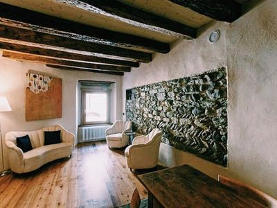 Photo for Historical stone wall house in Domodossola center