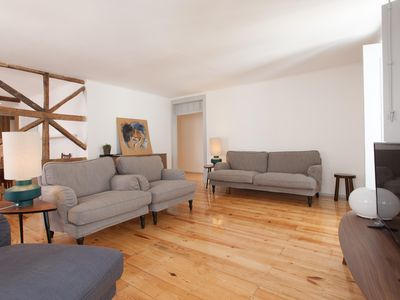 Photo for Bright Bairro Alto apartment in Bairro Alto with WiFi & air conditioning.