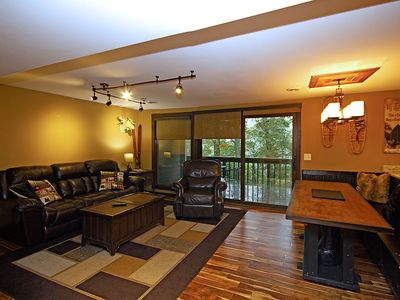 Photo for Classic Mountain Condo. Steps from slopes, trails, activities, restaurants!