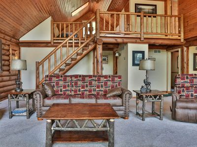 Photo for Total Seclusion - Hiller Vacation Homes - 2,500 sq. ft. executive log home