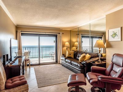 Photo for Ocean Breeze Condo with Unblocked Beach Views. Private Furnished Balcony