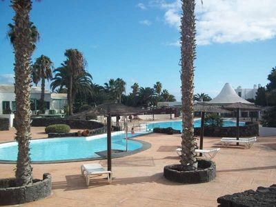 Photo for Apartment ZEASUN in Costa Teguise for 4 persons with shared pool, terrace, garden, WIFI and less than 30m to the sea