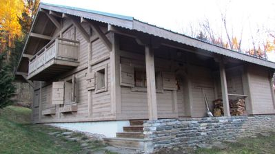 Photo for An authentic Savoyard chalet renovated, on the edge of the forest