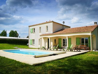 Photo for Private Villa with Heated Pool and Large Garden Family and Pet friendly