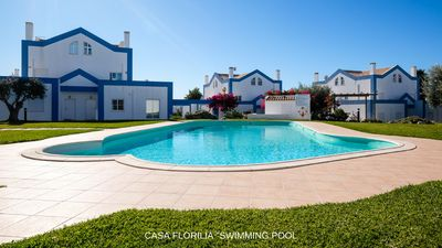 Photo for South facing luxury villa, pool, calm, and charm, free wifi, beaches 5 min