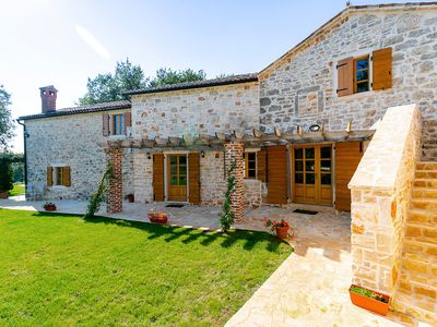 Photo for Beautiful Stone Villa with Private pool & Olive grove. Views of vineyards & sea