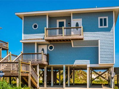 Photo for RISKY BUSINESS: 4 BR / 4 BA oceanfront in Topsail Beach, Sleeps 8