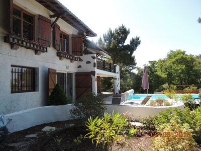 Photo for Beautiful villa for 10 people with pool in Pyla, panoramic 180 degrees