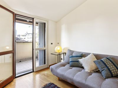 Photo for Romantic getaway in the heart of Milan w/ terrace & lovely city views!