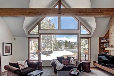 Main Living Room views of Peak 8 and the Highest Chair Lift in North America!