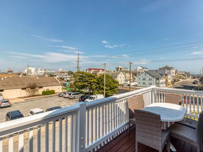 Photo for NEW LISTING! Oceanview condo w/ balcony - walk to the beach, dogs welcome!