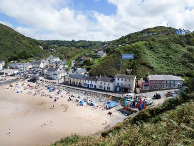 Photo for Llais y Mor is perfectly placed on the beachfront in Llangrannog
