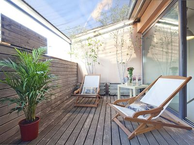Photo for Apartment Barcelona Rentals - Attic apartment in Bonanova with terrace for 6 pax