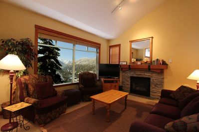 Living room with some of the best views in Whistler