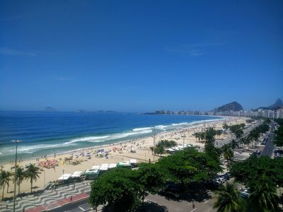 Photo for APARTMENT IN THE BEST LOCATION AND FRONT TO COPACABANA BEACH! TOTAL VIEW!