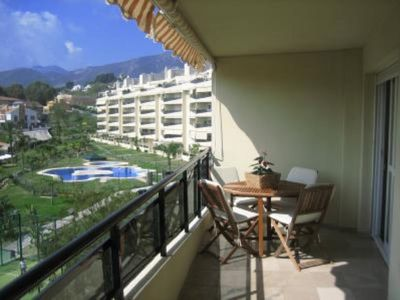 Photo for Wide apartment close to the beach, FREE WIFI, wide gardens close to golf