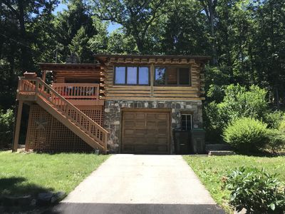Photo for Cozy Log Cabin with Greenwood Lake Access & AC