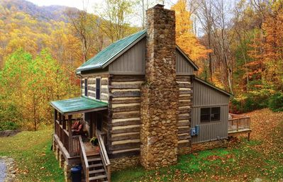 Photo for 1800's cabin with beautiful modern additions, just 1/2 mile from Crabtree Falls