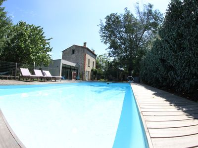 Photo for 170 m² holiday villa for 8 people with pool, close to the sea/ mountain, Céret