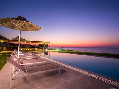Photo for Beach Front Luxury Villa with 100m2 Infinity pool and Beach Jacuzzi