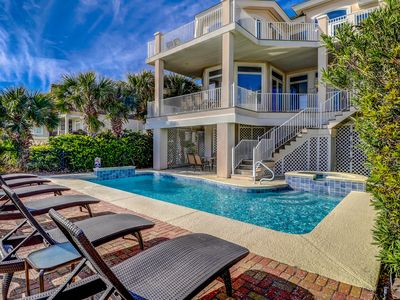 Photo for Elegant vacation getaway with private spa, pool, and oceanfront views!