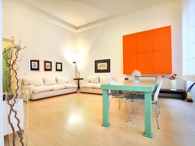 Photo for Spacious Divina Attuale apartment in Duomo with WiFi & lift.