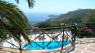 Private Pool/Ocean view terrace at villa close to Sorrento town center holidays