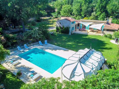Photo for Charming villa in a quiet area: heated swimming pool, sauna, ideal for families