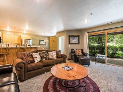 Photo for *FREE SKI RENTAL* No Car Needed - 150 Yards to Bus & Skiing! First Floor Unit w Fireplace, Pool View