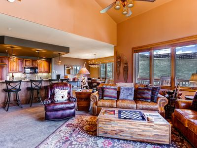Photo for Gorgeous Mountain views from this ski-in/ski-out condo w/ shared pool/hot tub