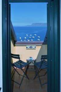 Photo for Double room with sea view in the village of Chianalea di Scilla (Calabria)