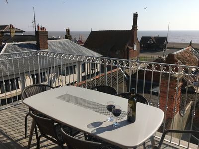 Photo for THE ALDEBURGH LOOKOUT  Stylish accommodation for 6 with best sea views in town