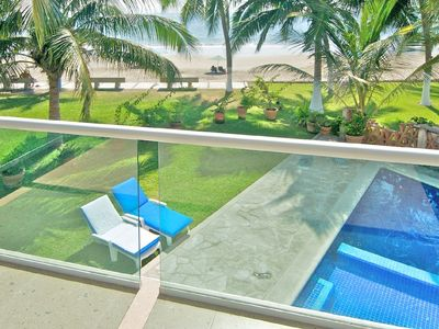 Photo for Beachfront 4 Bedrooms In Quiet Gated Residential Community