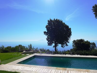 Photo for very large villa, charm and calm, spacious garden with trees, swimming pool, superb view