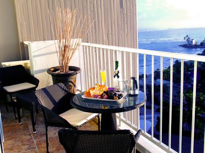 Photo for 🌴Beautiful Beach Front Studio 🌴 with Amazing  19th Floor View