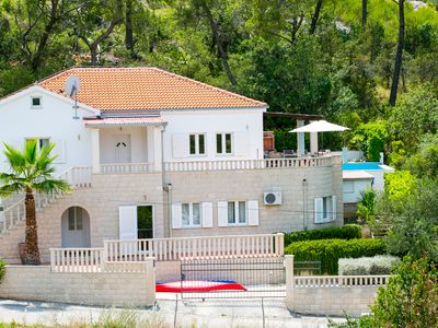 Photo for Villa with private pool and harbour view  (small open motorboat included