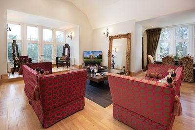 Choose to sit enjoying the views from the thrones or the comfy sofas