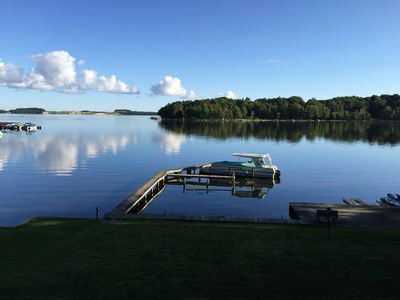 Photo for LAKEFRONT with PRIVATE BEACH*Free WiFi*Grills*Fireplaces*Fire Pit*Game Room