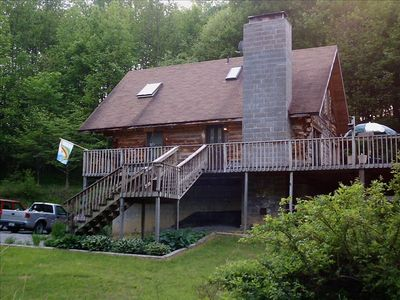 Photo for Seclusion on 46 Private Acres - Comfortable Mountain Log Home