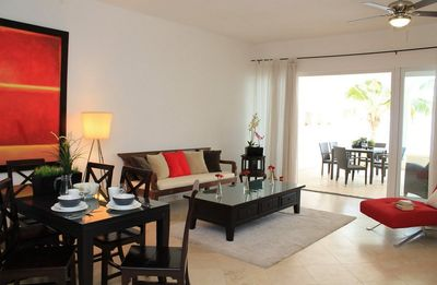 Photo for Groundfloor 3BD oceanfront condo, long sandy beach near shops and restaurants