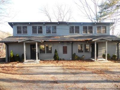 Photo for Mae's Haven A - 3 BD/2 BA Lakefront duplex apartment with wood burning fireplace.