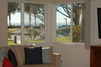 Living Room View.  (Ocean is closer than appears)